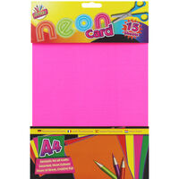 A4 Neon Card - 15 Sheets