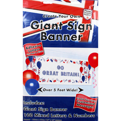 Great Britain Create Your Own Giant Sign Banner image number 1