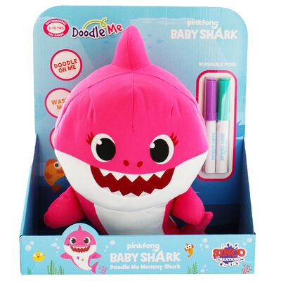Doodle Me Pink Mommy Shark Plush image number 2