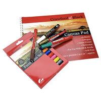 Canvas Pad and 12 Paint Pen Set