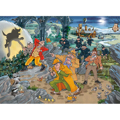Wasgij Mystery 14 Hound of the Wasgijville 1000 Piece Jigsaw Puzzle image number 2