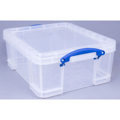 Really Useful 18 Litre Clear Plastic Storage Box image number 2
