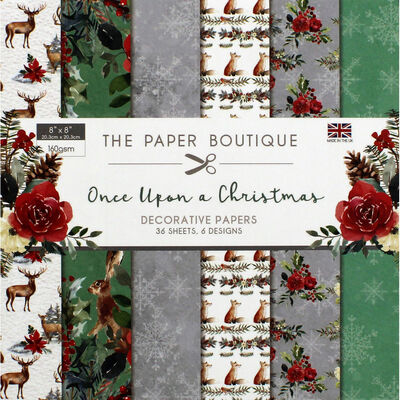 Once Upon a Christmas Decorative Papers Pad - 8x8 Inch image number 1