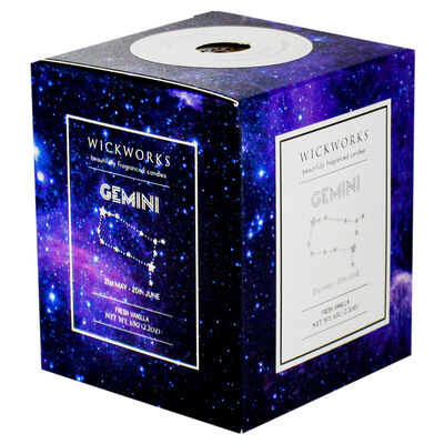 Zodiac Collection Gemini Fresh Vanilla Candle image number 1