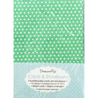 8 Pastel Polka Dot Cards - 5 Inches x 7 Inches image number 1