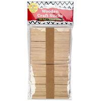 Wooden Craft Sticks: Pack of 100