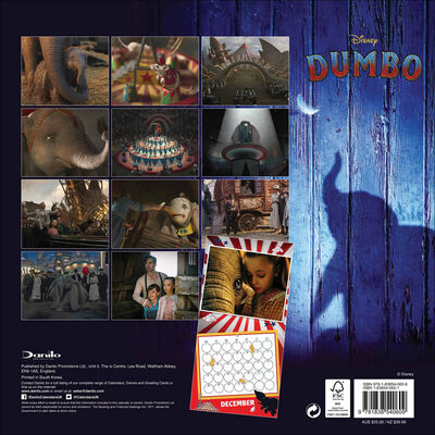 Disney Dumbo Official 2020 Square Calendar image number 3