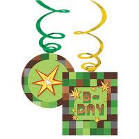 TNT Pixel Party Swirl Decorations