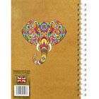 A5 Wiro Colourful Elephant Lined Notebook image number 2