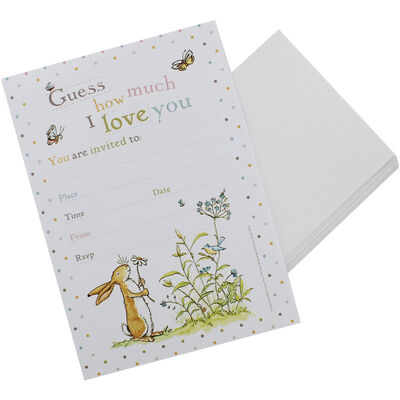 Guess How Much I Love You Party Invitations - Pack of 10 image number 2