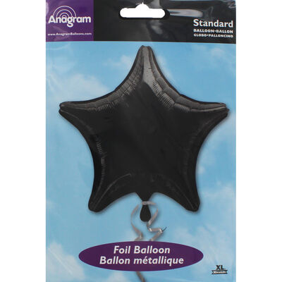 18 Inch Black Star Helium Balloon image number 2