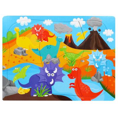 Dinosaur 6 Piece Jumbo Jigsaw Puzzle image number 1