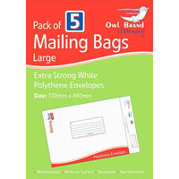 Large Mail Bags Pack of 5