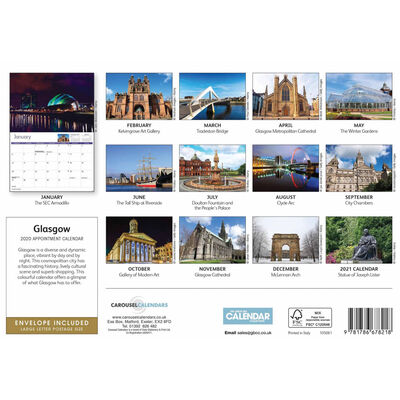 Glasgow 2020 A4 Wall Calendar image number 2