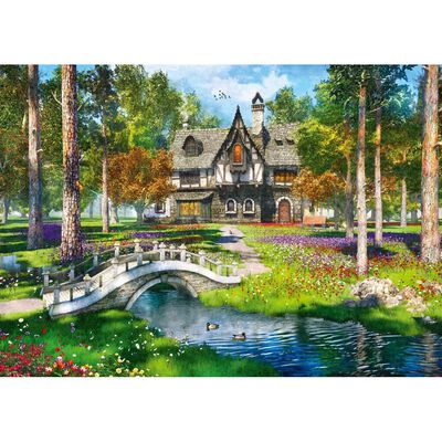 River Cottage Forest 1000 Piece Jigsaw Puzzle image number 2