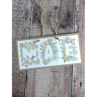 Crafters Companion Clear Acrylic Stamp - Floral Letter X