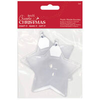 Fill Your Own Star Shaped Baubles: Pack of 2