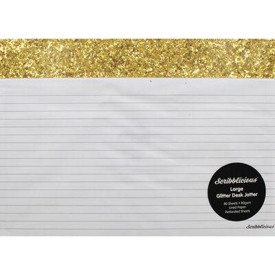 Gold Glitter Large Desk Jotter Pad image number 1