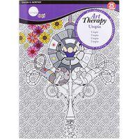 A4 Art Therapy Colouring Book: Utopia