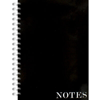 A4 Wiro Plain Black Lined Notebook image number 1