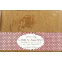 20 Brown Kraft Cards and Envelopes - 7cm x 10cm