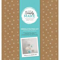 Simply Make - Needle Felting Kit Weather Mobile Blue