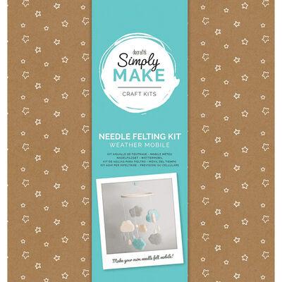 Simply Make - Needle Felting Kit Weather Mobile Blue image number 1