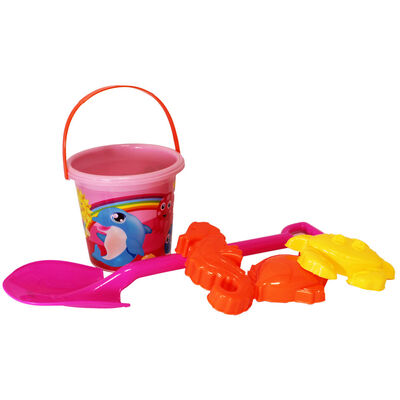 Pink Round Bucket and Spade Set image number 1