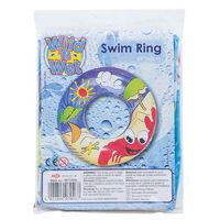 "Wild N Wet Inflatable 24"" Beach Print Swim Ring"