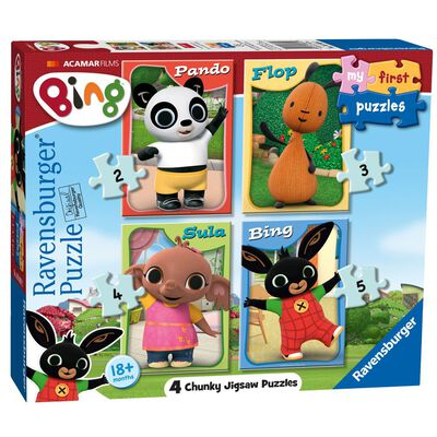 Bing Bunny 4 in 1 Jigsaw Puzzle Set image number 1
