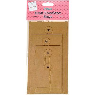 Kraft Envelope Bags Pack Of 3 image number 1