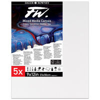 """Mixed Media Canvases 9"""" x 12"""": Pack of 5"""
