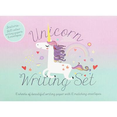 Unicorn Writing Set image number 1