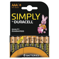 Duracell Simply AAA Batteries - Pack of 8