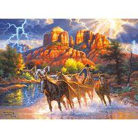 Mountain Horses 500 Piece Jigsaw Puzzle