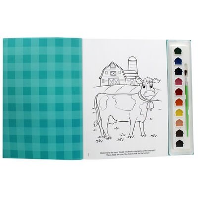 At the Farm Poster Paint Book image number 2