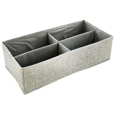 Grey 4-Section Drawer Divider Set image number 1