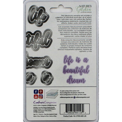Crafters Companion Spring is in the Air Metal Die - Life is Beautiful image number 2