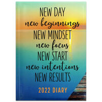 A5 New Day, New Beginnings 2022 Day a Page Diary