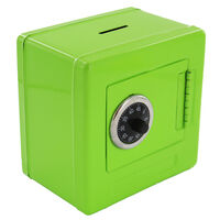 Green Metal Safe Money Box