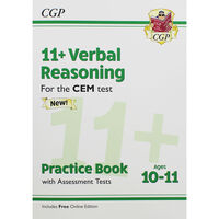 CGP 11+ Verbal Reasoning: Ages 10-11 Practice Book