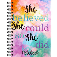 A6 Wiro She Believed Lined Notebook