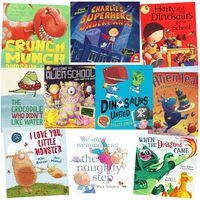 Dinosaurs and Monsters: 10 Kids Picture Books Bundle