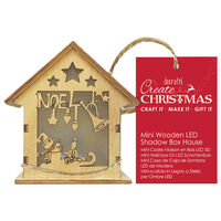 Mini Wooden Noel LED Shadow Box House