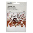 Rose Gold Foil Merry Christmas Place Cards - 10 Pack image number 1