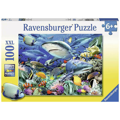 Shark Reef 100 Piece Jigsaw Puzzle image number 1