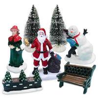 Christmas Village Figurines: Pack of 7