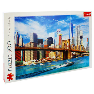 View Of New York 500 Piece Jigsaw Puzzle image number 1