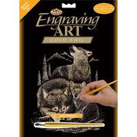 A4 Engraving Art Set: Wolves