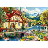 House By The Pond 500 Piece Jigsaw Puzzle